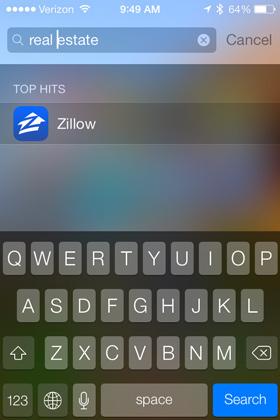 Spotlight App-Suche